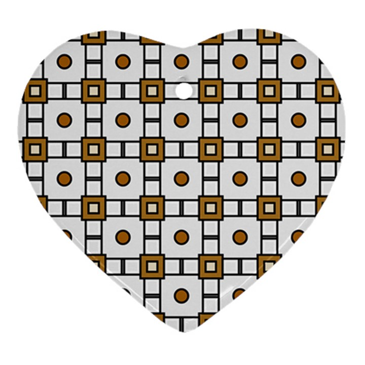 Peola Heart Ornament (Two Sides)