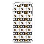 Peola iPhone 6 Plus/6S Plus Enamel White Case Front