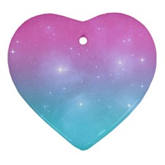 Pastel Goth Galaxy  Ornament (heart) by thethiiird