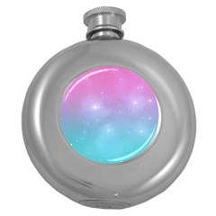 Pastel Goth Galaxy  Round Hip Flask (5 Oz) by thethiiird