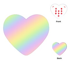Pastel Goth Rainbow  Playing Cards Single Design (heart) by thethiiird