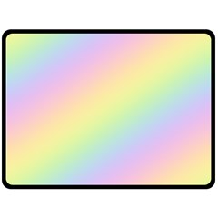 Pastel Goth Rainbow  Fleece Blanket (large)  by thethiiird
