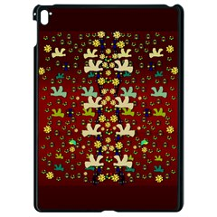 Happy Birds In Freedom And Peace Apple Ipad Pro 9 7   Black Seamless Case by pepitasart