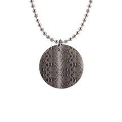 Python Snakeskin Print 1  Button Necklace by LoolyElzayat