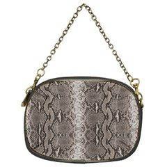 Python Snakeskin Print Chain Purse (two Sides) by LoolyElzayat