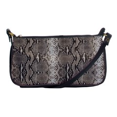 Python Snakeskin Print Shoulder Clutch Bag by LoolyElzayat
