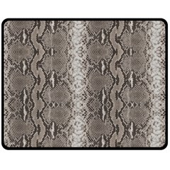 Python Snakeskin Print Fleece Blanket (medium)  by LoolyElzayat