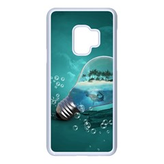 Awesome Light Bulb With Tropical Island Samsung Galaxy S9 Seamless Case(white) by FantasyWorld7