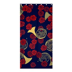 Roses French Horn  Shower Curtain 36  X 72  (stall)  by BubbSnugg