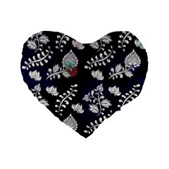 Vivitry Standard 16  Premium Flano Heart Shape Cushions by mccallacoulture