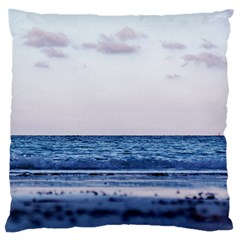 Pink Ocean Hues Large Cushion Case (two Sides) by TheLazyPineapple