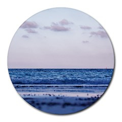 Pink Ocean Hues Round Mousepads by TheLazyPineapple