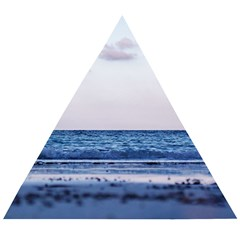 Pink Ocean Hues Wooden Puzzle Triangle