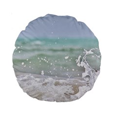 Ocean Heart Standard 15  Premium Round Cushions by TheLazyPineapple