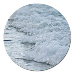 Ocean Waves Magnet 5  (round) by TheLazyPineapple