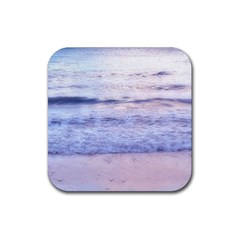 Pink Ocean Dreams Rubber Square Coaster (4 Pack)  by TheLazyPineapple