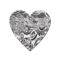 Pebbels In The Pond Heart Magnet by ScottFreeArt