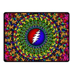 Grateful Dead Double Sided Fleece Blanket (small)  by Sapixe