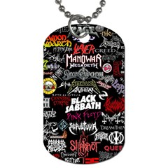 Metal Bands College Dog Tag (one Side)