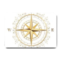 Points Of The Compass Navigation Compass Map Small Doormat