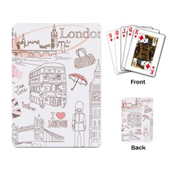 I Love London Drawing Playing Cards Single Design (rectangle)
