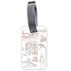 I Love London Drawing Luggage Tag (two Sides)