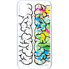 Brain Mind Psychology Idea Drawing Iphone Xs Seamless Case (white) by Bejoart