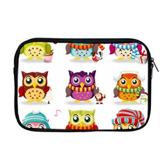 Cartoon Cute Owl Vector Apple Macbook Pro 17  Zipper Case