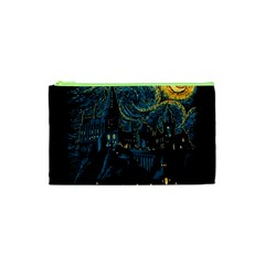 Castle Starry Night Van Gogh Parody Cosmetic Bag (xs)