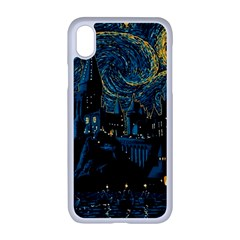Castle Starry Night Van Gogh Parody Iphone Xr Seamless Case (white)