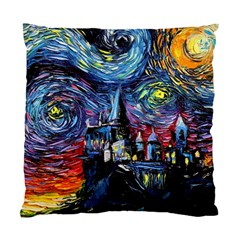 Castle Hogwarts  Starry Night Print Van Gogh Parody Standard Cushion Case (two Sides)