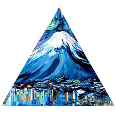 Mount Fuji Art Starry Night Van Gogh Wooden Puzzle Triangle