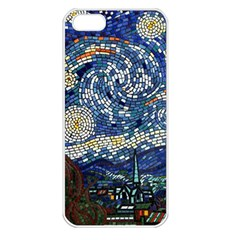 Mosaic Art Vincent Van Gogh s Starry Night Iphone 5 Seamless Case (white)