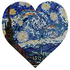 Mosaic Art Vincent Van Gogh s Starry Night Wooden Puzzle Heart