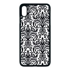 Overlay Transparent Pattern Iphone Xs Max Seamless Case (black)