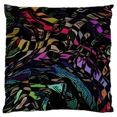 Background Drawing Colorful Pattern Large Cushion Case (one Side)