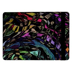 Background Drawing Colorful Pattern Samsung Galaxy Tab Pro 12 2  Flip Case by Vaneshart