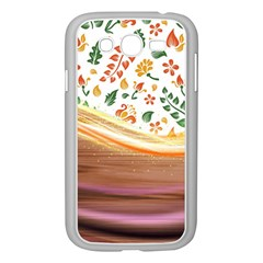 Floral Background Abstract Pattern Samsung Galaxy Grand Duos I9082 Case (white)