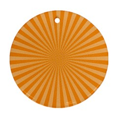 Background Graphic Modern Orange Round Ornament (two Sides)