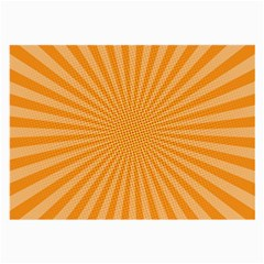 Background Graphic Modern Orange Large Glasses Cloth