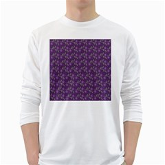 Flowers Violet Decorative Pattern Long Sleeve T-shirt by Vaneshart