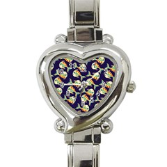 Fish Background Abstract Animal Heart Italian Charm Watch