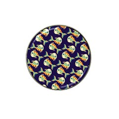 Fish Background Abstract Animal Hat Clip Ball Marker (4 Pack)