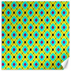 Pattern Tiles Square Design Modern Canvas 16  X 16