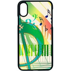 Music Piano Treble Clef Clef Iphone X Seamless Case (black)