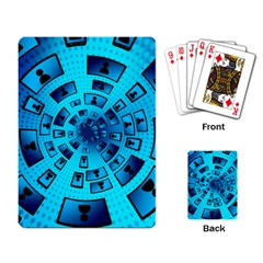 Social Media Smartphone Monitor Playing Cards Single Design (rectangle)