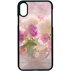 Nature Landscape Flowers Peonie Iphone X Seamless Case (black)