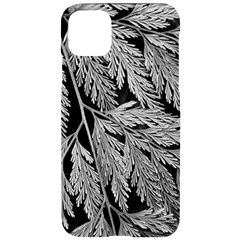 Fern Leaves Foliage Black And White Iphone 11 Pro Max Black Uv Print Case