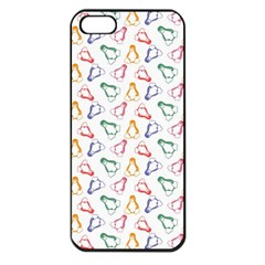 Linux Kernel Penguin Pattern Logo Iphone 5 Seamless Case (black)
