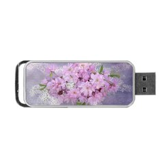 Nature Landscape Cherry Blossoms Portable Usb Flash (one Side)